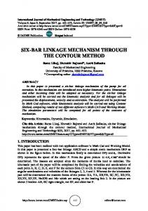 six-bar linkage mechanism through the contour method