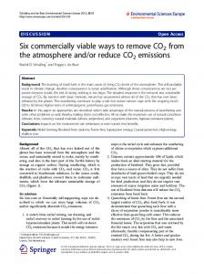 Six commercially viable ways to remove CO2 from the ... - SmartStones