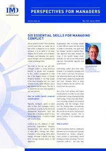 SIX ESSENTIAL SKILLS FOR MANAGING CONFLICT - IMD business