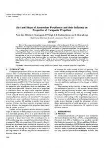 Size and Shape of Ammonium Perchlorate and their Influence on ...