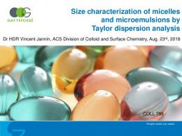 Size characterization of micelles and microemulsions