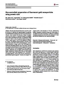 Size-controlled preparation of fluorescent gold nanoparticles using ...