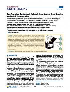 Size-Controlled Synthesis of Colloidal Silver ... - Technische Chemie