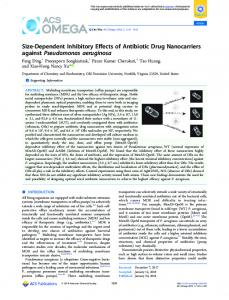 Size-Dependent Inhibitory Effects of Antibiotic Drug ... - ACS Publications