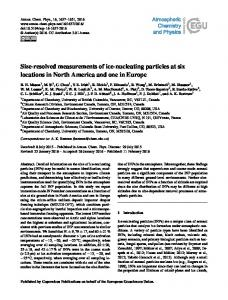 Size-resolved measurements of ice-nucleating ... - Atmos. Chem. Phys