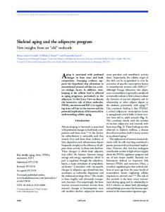skeletal aging and the adipocyte program - University of Toledo
