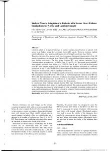Skeletal Muscle Adaptation in Patients with Severe Heart Failure ...