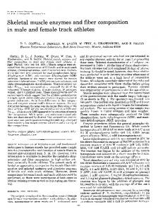 Skeletal muscle enzymes and fiber composition in male and ... - Free