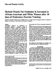 Skeletal Muscle Fat Oxidation Is Increased in ... - Wiley Online Library