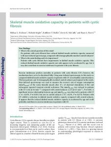 Skeletal muscle oxidative capacity in patients ... - Wiley Online Library