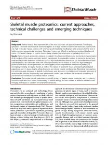 Skeletal muscle proteomics - BioMedSearch