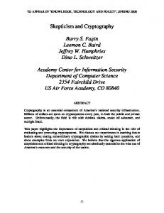 Skepticism and Cryptography
