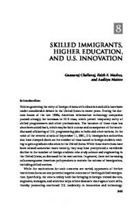 skilled immigrants, higher education, and us innovation - CiteSeerX