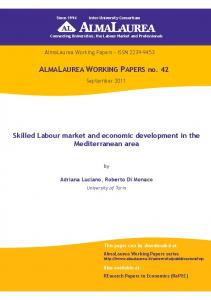 Skilled Labour market and economic development in ... - AlmaLaurea