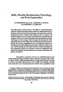 Skills, Flexible Manufacturing Technology, and Work Organization