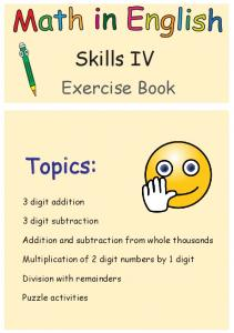 Skills IV: Grade 3 math practice workbook - Math and English