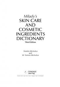 skin care and cosmetic ingredients dictionary - Milady - Cengage ...