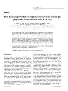 Skin disease is prevented but nephritis is accelerated by multiple ...