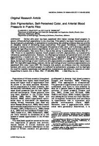 Skin pigmentation, self-perceived color, and arterial blood pressure in ...