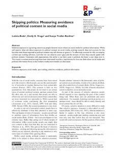 Skipping politics: Measuring avoidance of political content in social ...