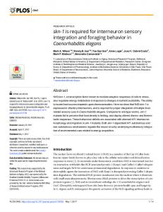 skn-1 is required for interneuron sensory integration and ... - PLOS