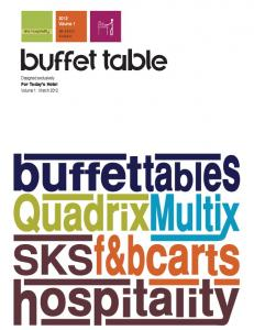 SKS Buffet Table