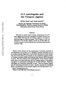 SLE martingales and the Virasoro algebra