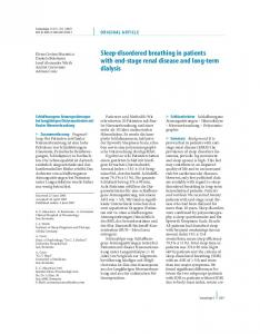 Sleep-disordered breathing in patients with end-stage ... - Springer Link