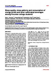 Sleep quality, sleep patterns and consumption of energy drinks and ...
