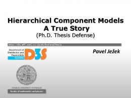 Slides from the thesis defense