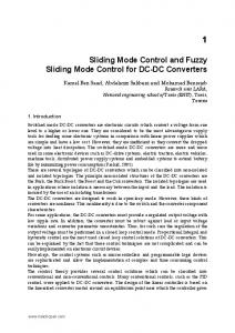 Sliding Mode Control and Fuzzy Sliding Mode Control for ... - IntechOpen