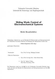 Sliding Mode Control of Electromechanical Systems