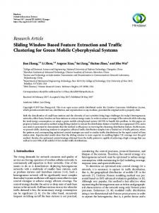 Sliding Window Based Feature Extraction and Traffic Clustering for ...