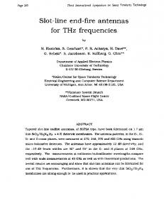 Slot-line end-fire antennas for THz frequencies - NRAO