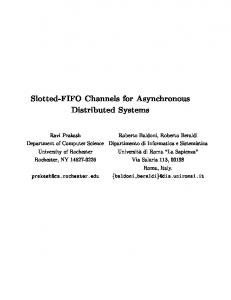 Slotted-FIFO Channels for Asynchronous Distributed ... - CiteSeerX