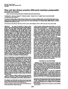 Slow and fast dietary proteins differently modulate ... - phoenix barbell
