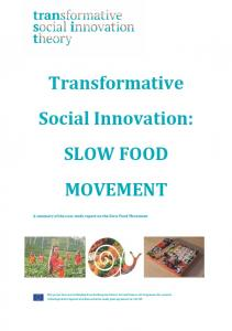 SLOW FOOD MOVEMENT - TRANSIT social innovation