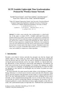 SLTP: Scalable Lightweight Time Synchronization Protocol for ... - CMU