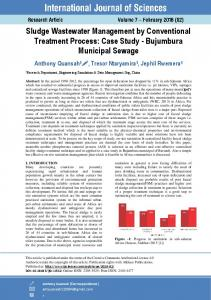 Sludge Wastewater Management by Conventional Treatment Process ...