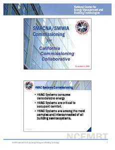 SMACNA/SMWIA Commissioning - California Commissioning ...