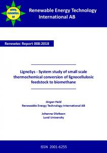 Small and medium scale technologies for bioSNG