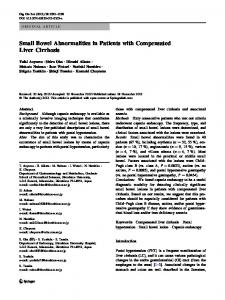 Small Bowel Abnormalities in Patients with ... - Springer Link