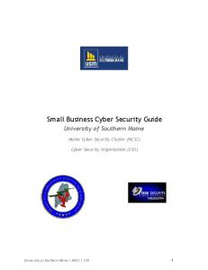 Small Business Cyber Security Guide (PDF) - Maine.gov