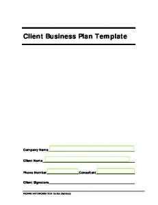 Small Business Pack Business Plan template (PDF)
