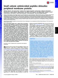 Small cationic antimicrobial peptides delocalize peripheral membrane ...