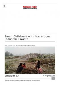 Small Childrens with Hazardous Industrial Waste