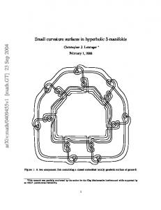 Small curvature surfaces in hyperbolic 3-manifolds