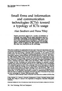 Small firms and information and communication ... - Alan Southern