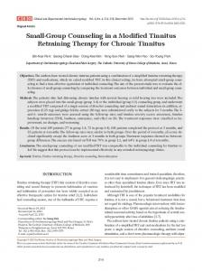 Small-Group Counseling in a Modified Tinnitus ... - BioMedSearch