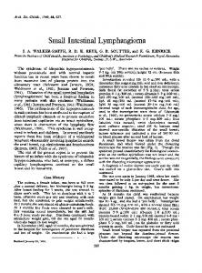 Small Intestinal Lymphangioma - NCBI
